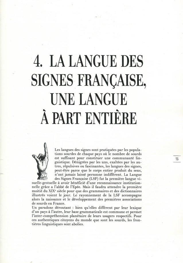 4 - la langue des signes une langue à part entière