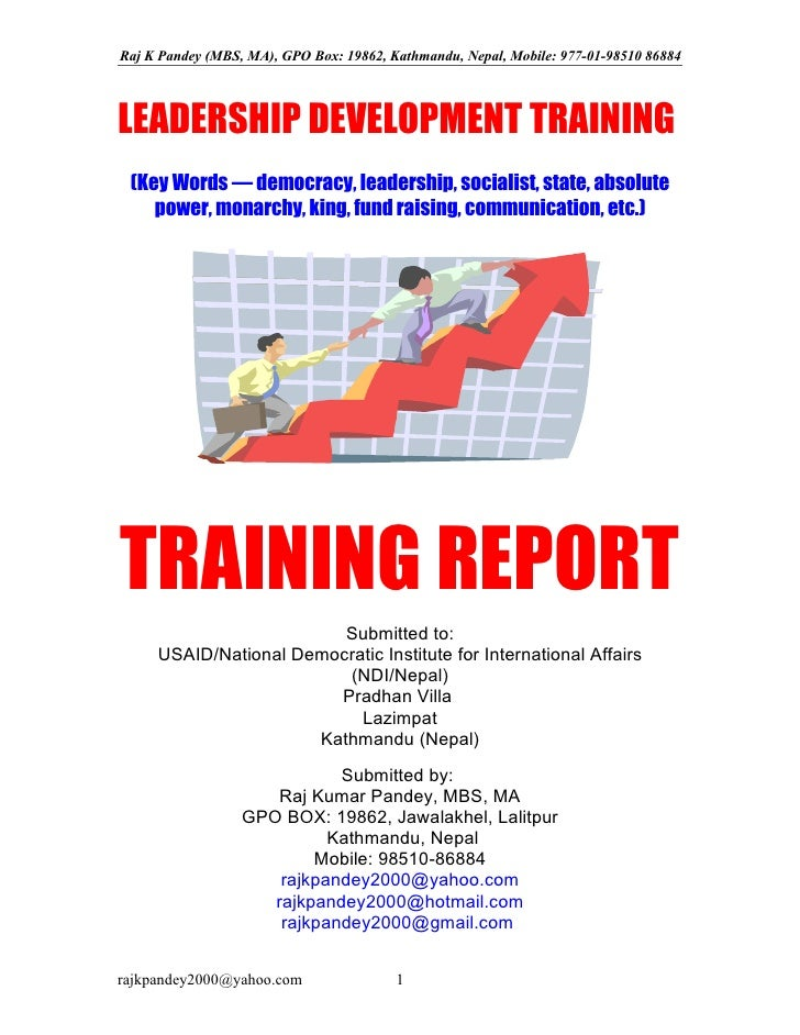 4 leadership training for nepalese leaders