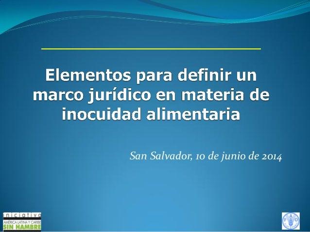 San Salvador, 10 de junio de 2014