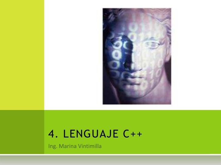 4. LENGUAJE C++