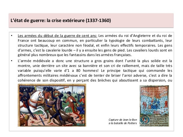 • Les armées du début de la guerre de cent ans: Les armées du roi d'Angleterre et du ro...