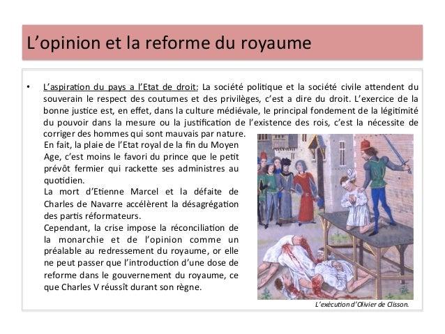 L'opinion et la reforme du royaume • L'aspiraLon du pays a l'Etat de droit: La société poli...