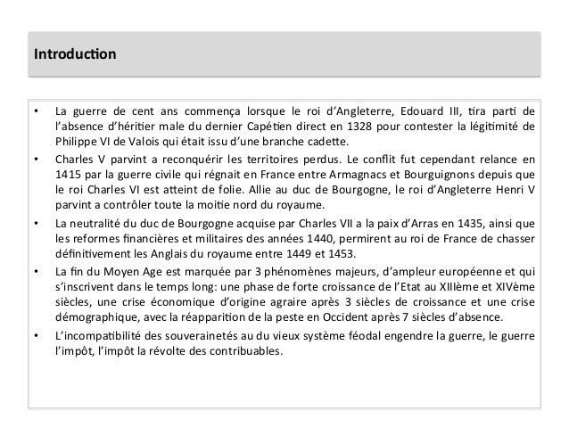Introduc.on • La  guerre  de  cent  ans  commença  lorsque  le  roi  d'Angleterre,  Edouard  III,...