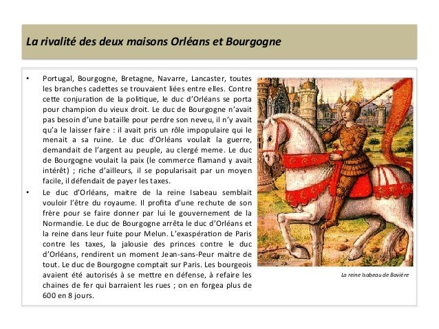 La rivalité des deux maisons Orléans et Bourgogne • Portugal,  Bourgogne,  Bretagne,  Navarre,  L...