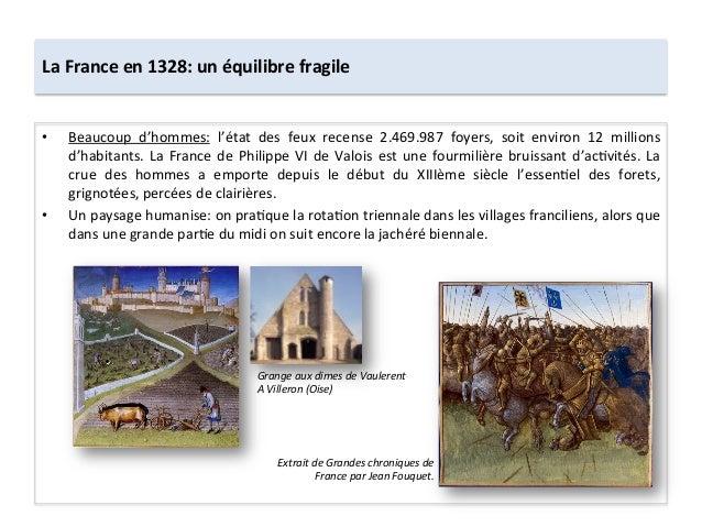 La France en 1328: un équilibre fragile • Beaucoup  d'hommes:  l'état  des  feux  recense  2.46...