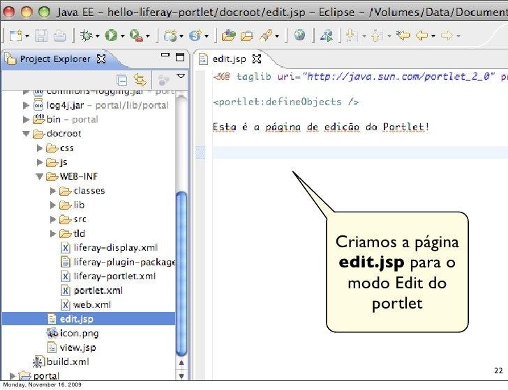 Criamos a página                             edit.jsp para o                              modo Edit do                    ...