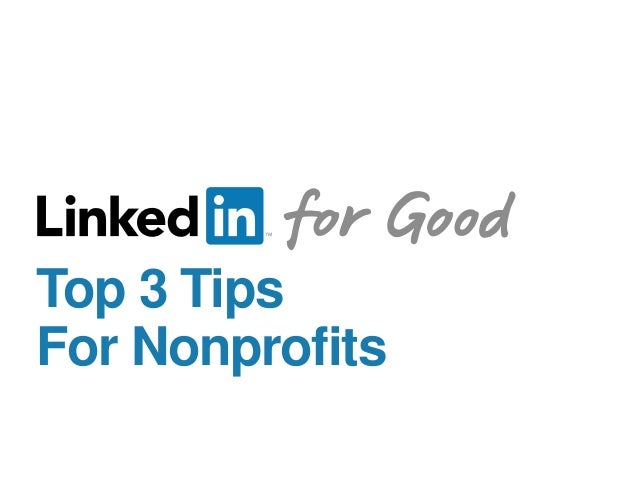 Top 3 Tips For Nonprofits