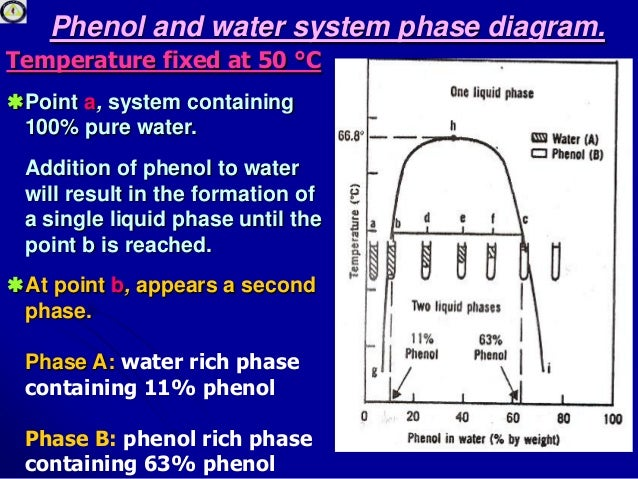 liquid liquid solution systems Single Phase Graph conjugate solutions; 7 7 phenol and water system phase diagram