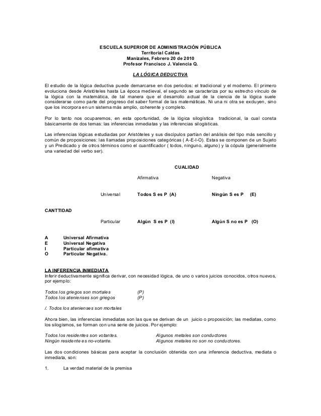 ESCUELA SUPERIOR DE ADMINISTRACIÓN PÚBLICA Territorial Caldas Manizales, Febrero 20 de 2010 Profesor Francisco J. Valencia...