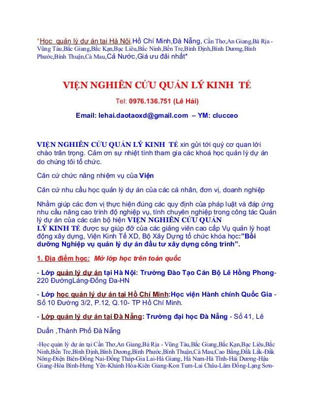 *Học quản lý dự án tại Hà Nội,Hồ Chí Minh,Đà Nẵng, Cần Thơ,An Giang,Bà Rịa -Vũng Tàu,Bắc Giang,Bắc Kạn,Bạc Liêu,Bắc Ninh,B...