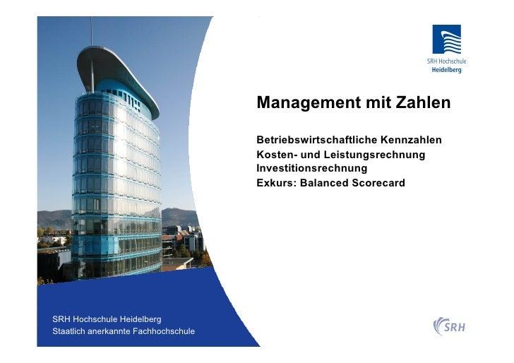 Management mit Zahlen                                          Betriebswirtschaftliche Kennzahlen                         ...