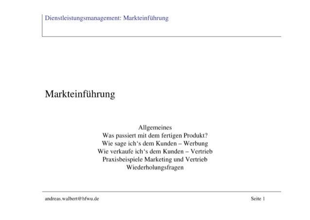 4 MarkteinfüHrung
