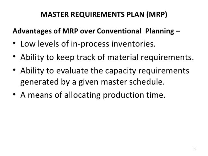 material requirement planning at mcdonalds Mrp is a very important and a very simple engine that drives material planning in most manufacturing companies in this video, i try to explain the conceptua.