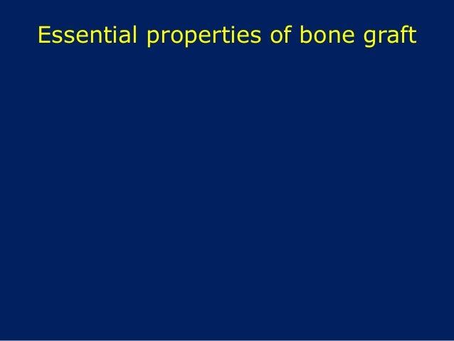 Essential properties of bone graft