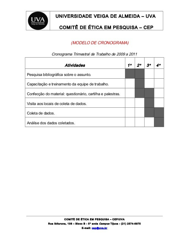 4 Modelo De Cronograma De Trabalho