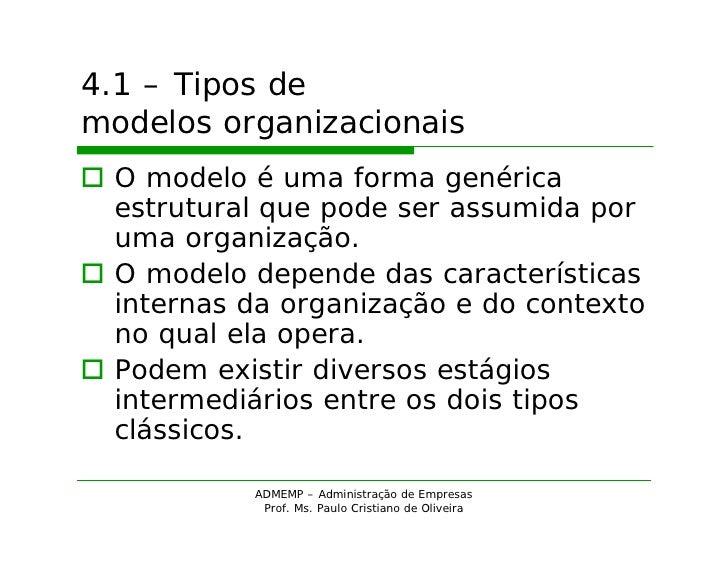 ADM - Modelos organizacionais Slide 2