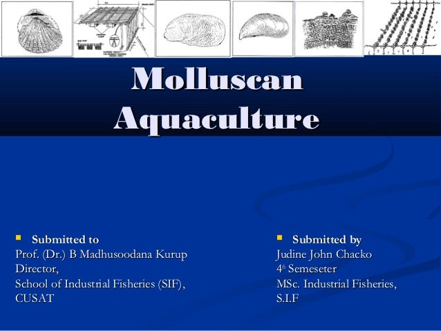 Molluscan                     Aquaculture  Submitted to                             Submitted byProf. (Dr.) B Madhusooda...