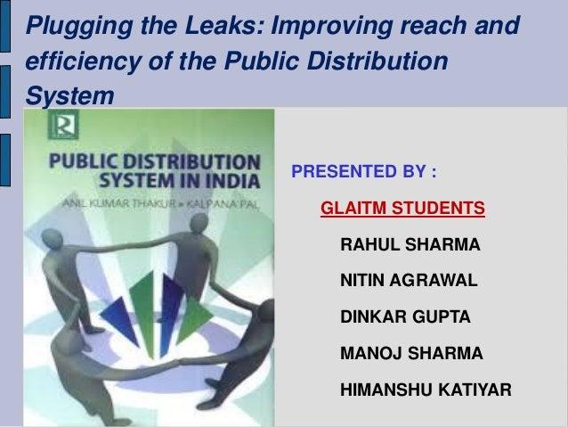 PRESENTED BY : GLAITM STUDENTS RAHUL SHARMA NITIN AGRAWAL DINKAR GUPTA MANOJ SHARMA HIMANSHU KATIYAR Plugging the Leaks: I...