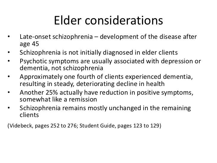 nursing a client with schizophrenia Some nursing diagnoses for client's affected with impaired cognition include:  of  mental disorders (dsm) contains four major categories of mental illness.