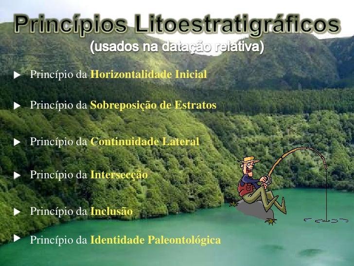    Princípio da Horizontalidade Inicial     Princípio da Sobreposição de Estratos      Princípio da Continuidade Latera...