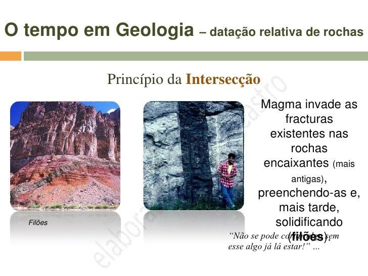 O tempo em Geologia – datação relativa de rochas                                    Uma discordância                      ...
