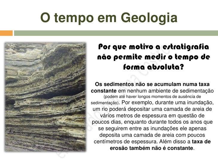 O tempo em geologia - datação relativa e absoluta