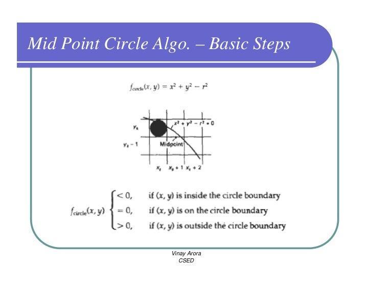 Bresenham Line Drawing Algorithm Solved Example : Cg output primitives