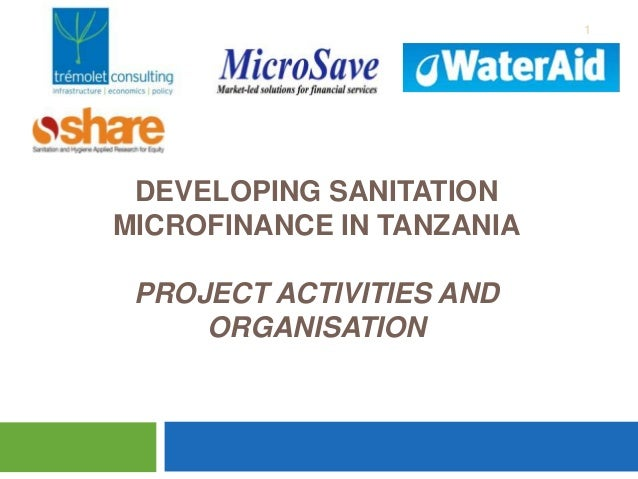 1  DEVELOPING SANITATION MICROFINANCE IN TANZANIA PROJECT ACTIVITIES AND ORGANISATION