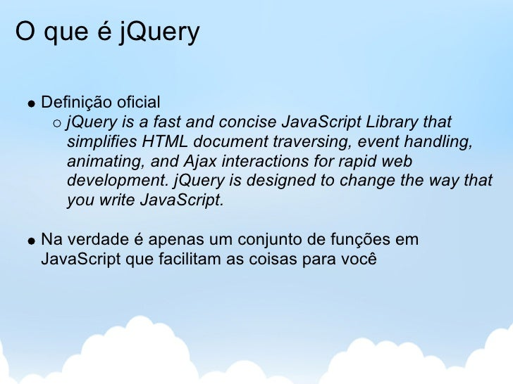 Desevolvimento Web Client-side - jQuery Slide 2