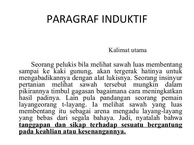 Contoh Kalimat Deduktif Dan Induktif Dalam Bahasa Jawa Barisan Contoh