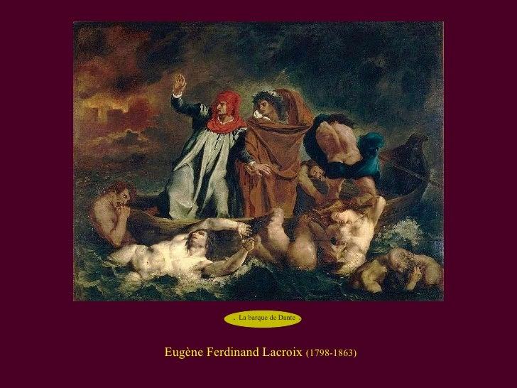Eugène Ferdinand Lacroix  (1798-1863) .  La barque de Dante   .
