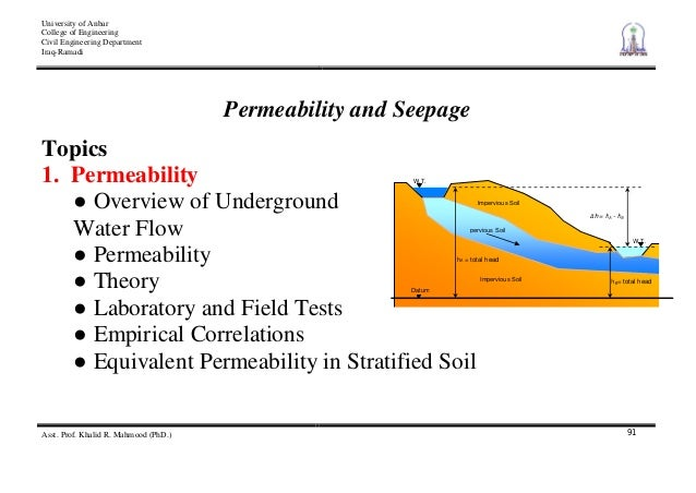 4 permeability and seepage