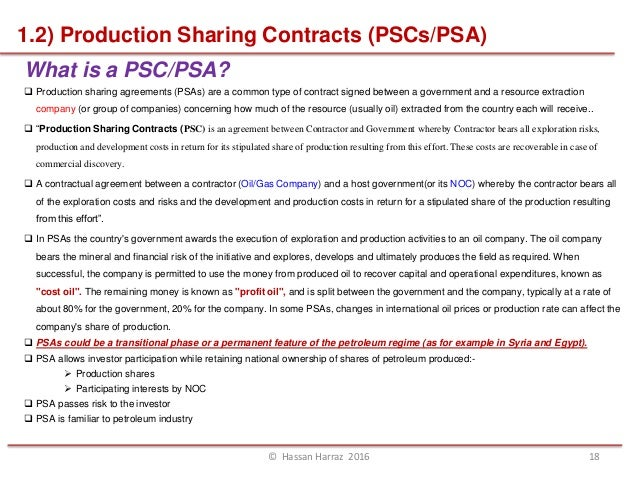 Topic 4 types of petroleum contracts agreement hassan harraz 2016 17 18 platinumwayz