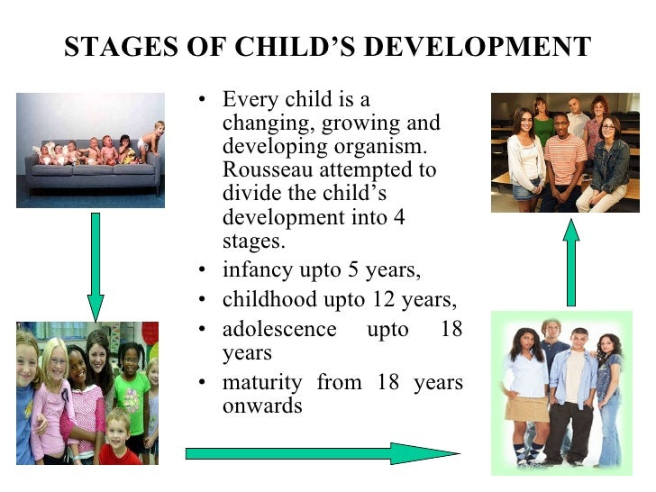 Physical development for 4 stages of motor development