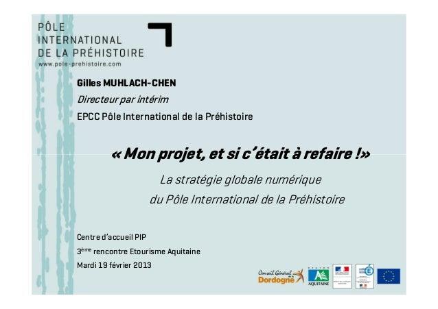 Gilles MUHLACH-CHENDirecteur par intérimEPCC Pôle International de la Préhistoire         « Mon projet, et si c'était à re...