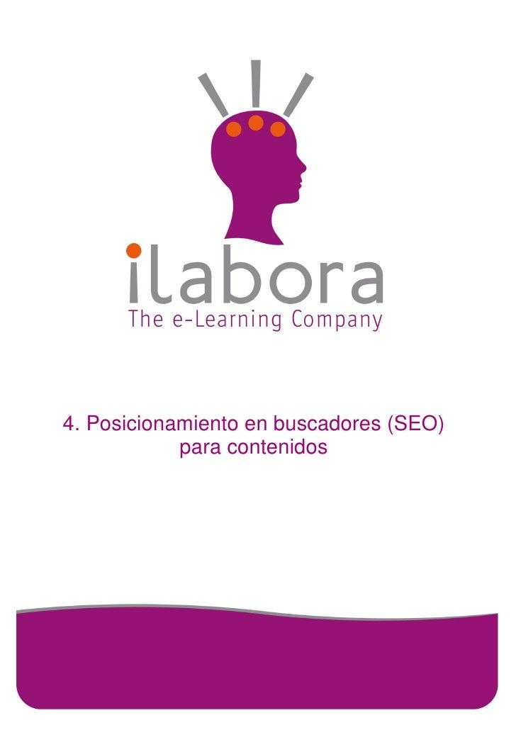 4. Posicionamiento en buscadores (SEO)            para contenidos
