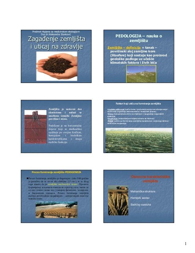 Predmet Higijena sa medicinskom ekologijom          Doc.dr Aleksandra Stanković                                           ...