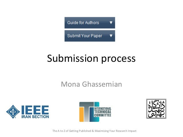 Submission process Mona Ghassemian The A to Z of Getting Published & Maximising Your Research Impact