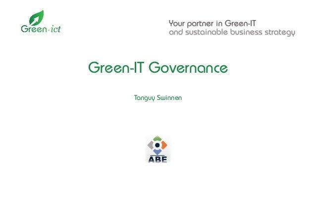 Green-IT Governance Tanguy Swinnen