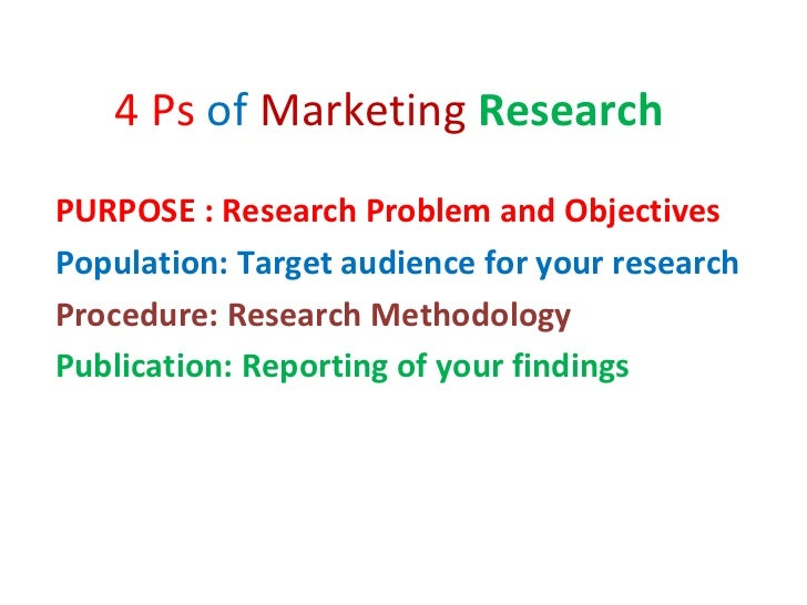 marketing research problem The market research process is a systematic methodology for informing business decisions there are six basic steps, starting with defining the problem and understanding your research.