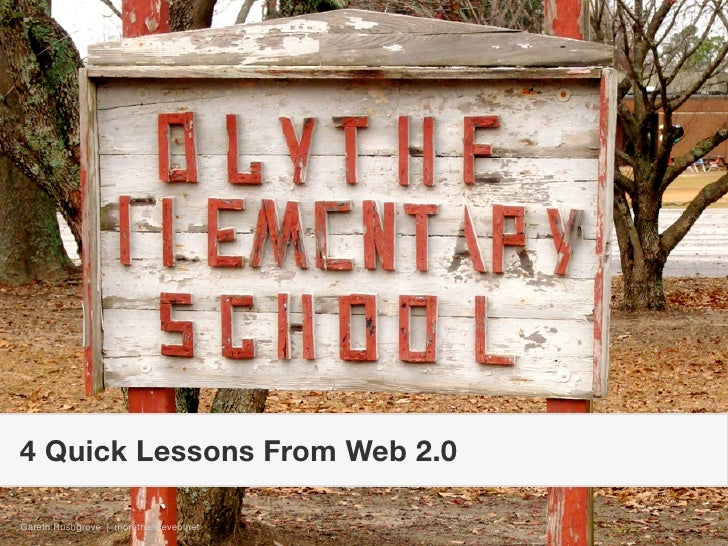 4 Quick Lessons From Web 2.0  Gareth Rushgrove | morethanseven.net