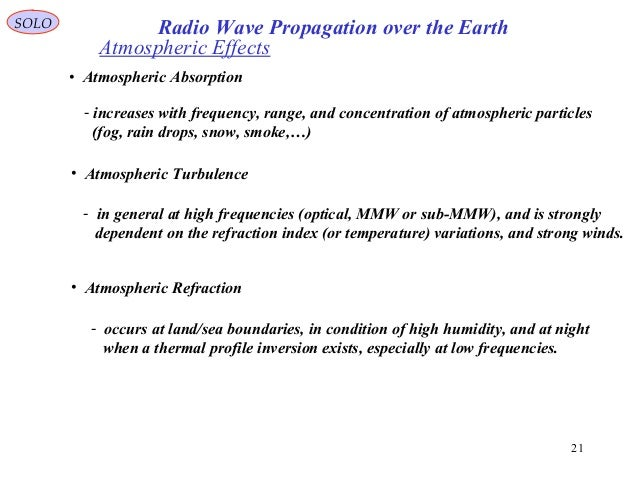4 radio wave propagation over the earth