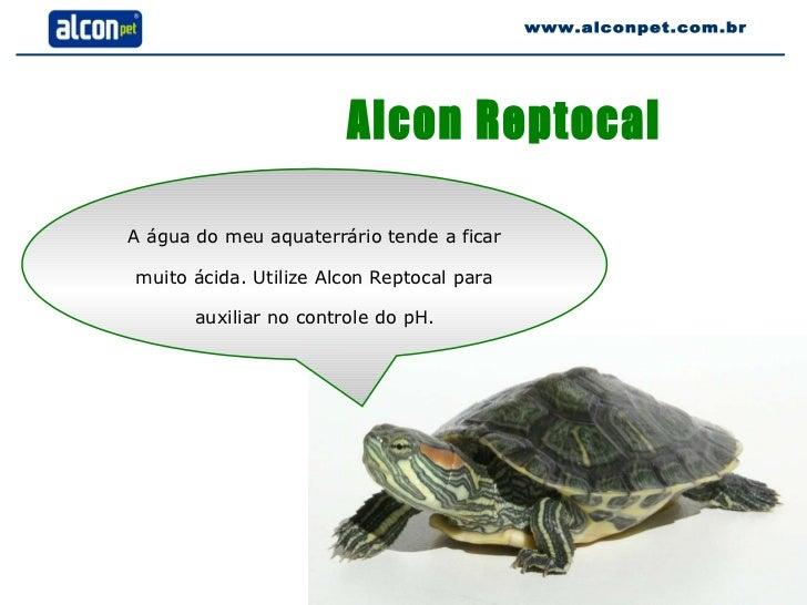 Alcon Reptocal A água do meu aquaterrário tende a ficar muito ácida. Utilize Alcon Reptocal para auxiliar no controle do p...