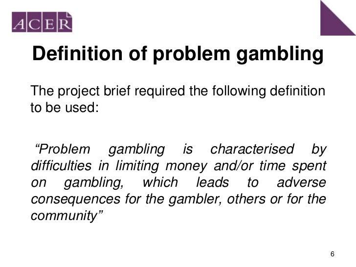 Problem gambling definition pictures hardrock casino hollywood fl