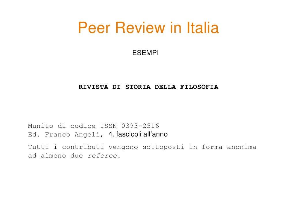 4 riviste peer review refereeing