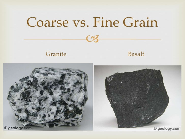 Granite Vs Basalt : Rock and the cycle notes