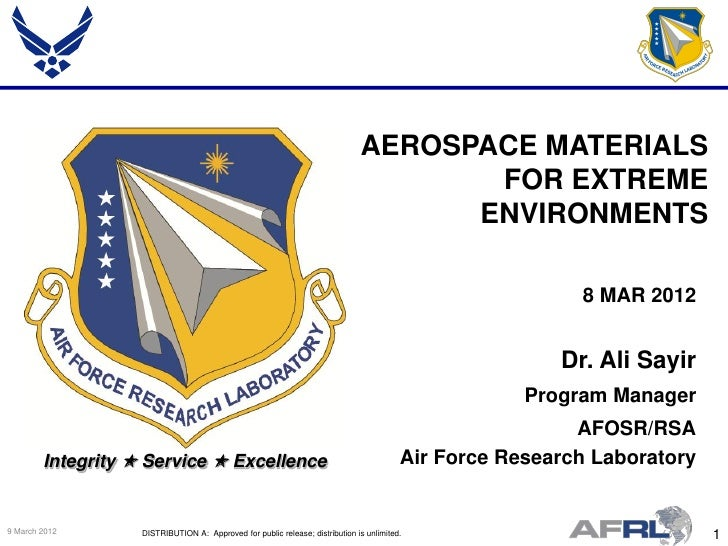 AEROSPACE MATERIALS                                                                                     FOR EXTREME       ...