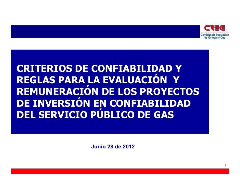 Regulaci n de confiabilidad para el servicio de gas for Gas natural servicios