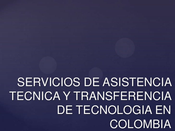 Servicios de Extensión Agropecuaria en Colombia