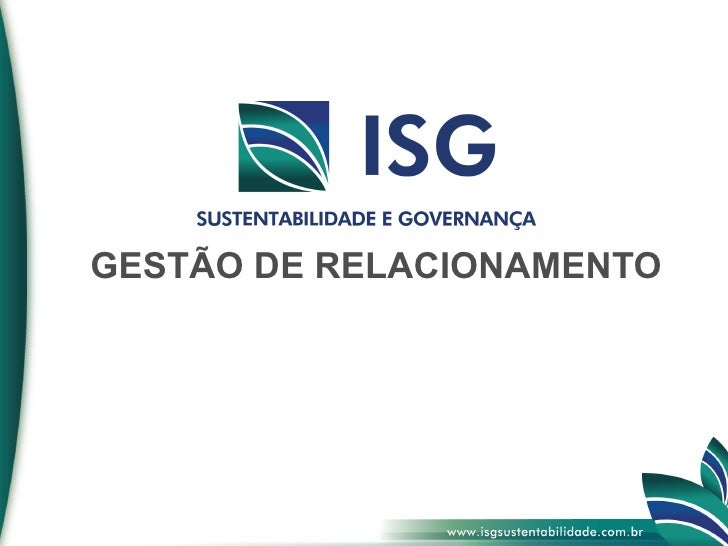 GESTÃO DE RELACIONAMENTO